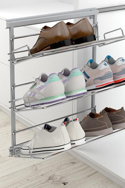 Zapateros laterales para instalar en armarios.