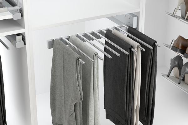 Pantalonero lateral para interior de armario vestidor