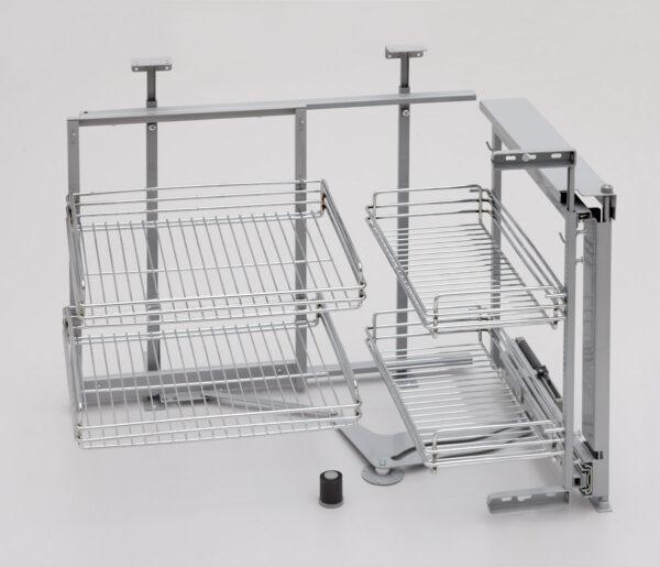 Sistema extraíble para mueble rinconero de cocina