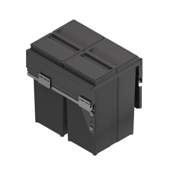Cubo de reciclaje antracita para mueble de cocina