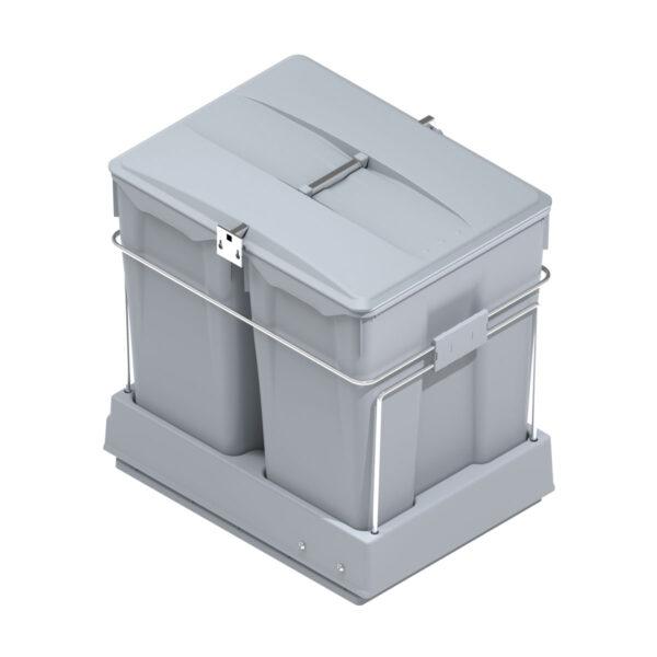Cubo basura ecológico para frontales de más de 450mm con 2 cubos de 30 litros