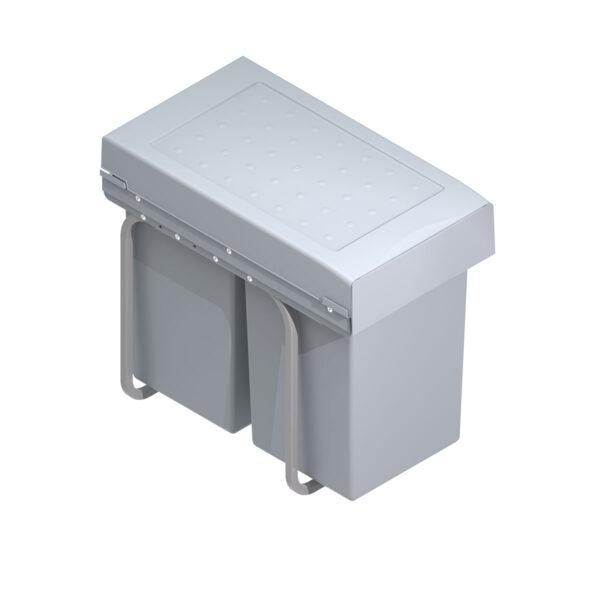 Cubo basura ecológico para frontales de más de 300mm con 2 cubos de 14 litros
