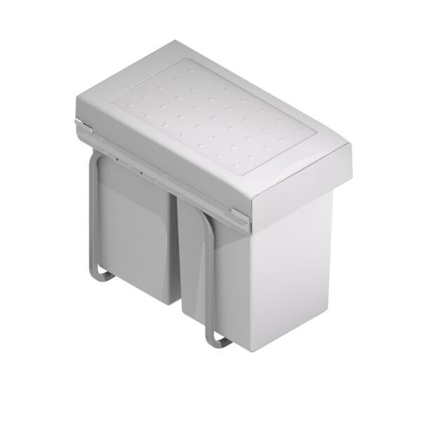 Dos cubos de basura de 14L extraíbles
