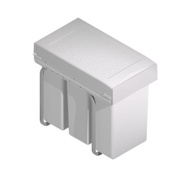 3 cubos de basura de 10L para reciclar