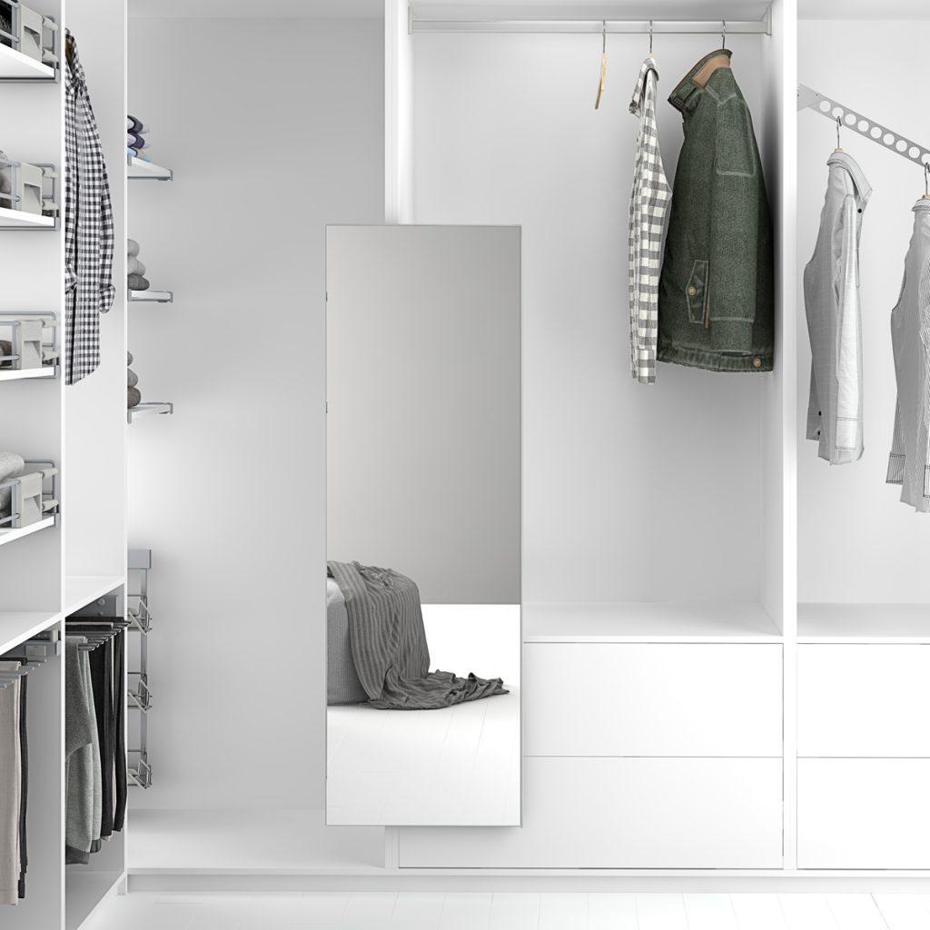 Espejo extraíble para armario