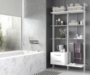 Un baño muy moderno