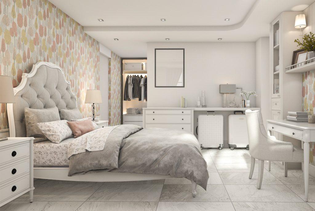 Un espejo extraíble en tu dormitorio