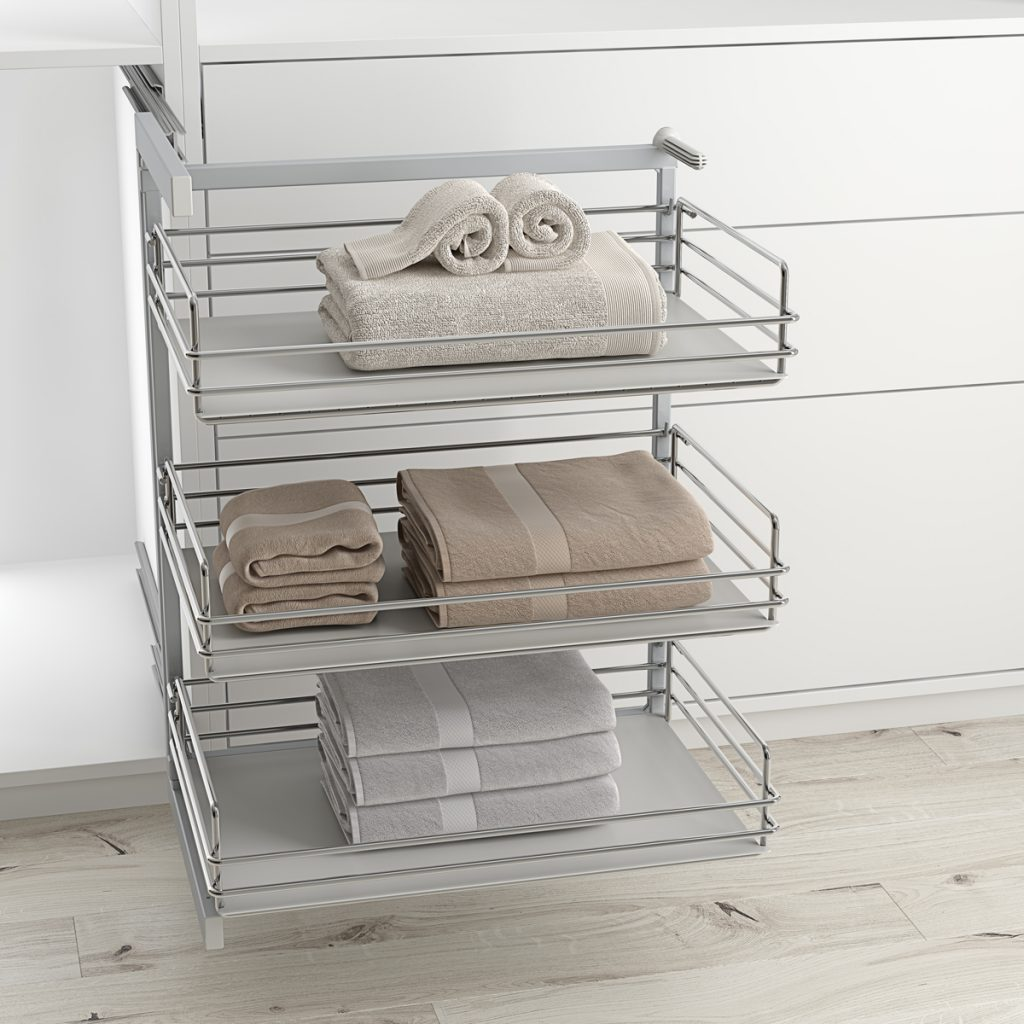Baldas extraíbles para armario vestidor sin espacio