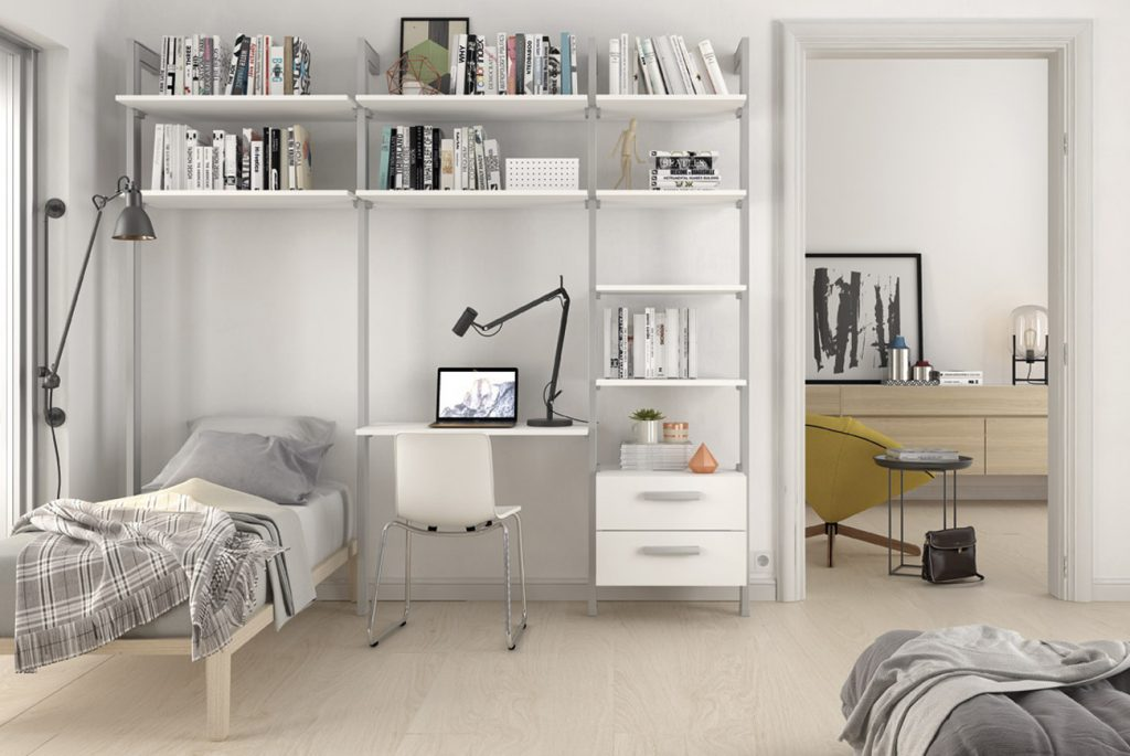 Una zona de estudio en casa