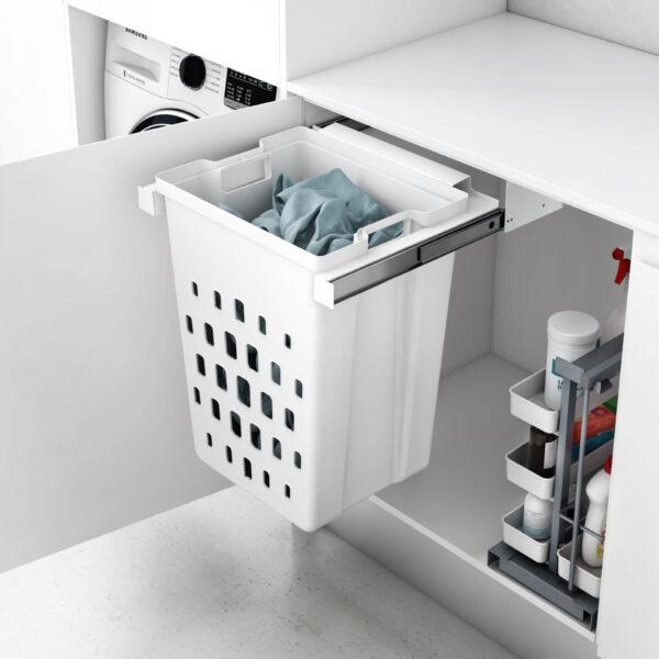 Cesto extraíble para guardar la ropa sucia de manera ordenada