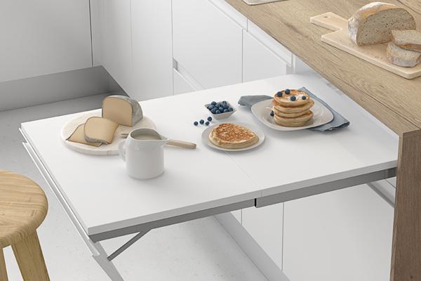 Mesa extraíble para cocina