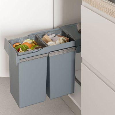 ¿Cómo sé si cabe un cubo de basura de Casaenorden en mi mueble?
