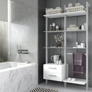 armario de baño sin puertas