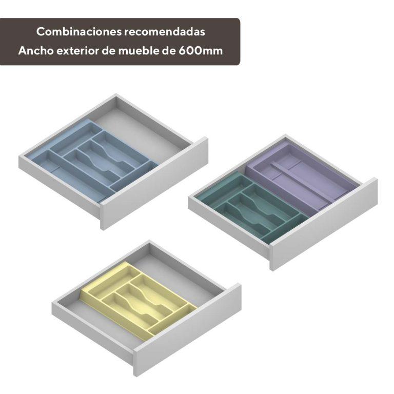 Cubertero modular cajón 600