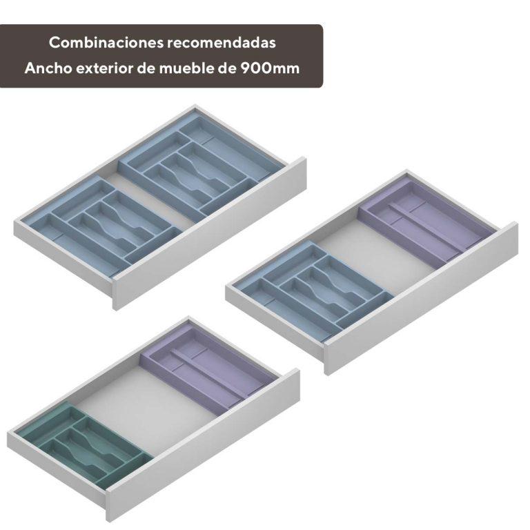 Cubertero modular mueble 900