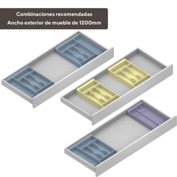 Cuberteros modulares para cajones de cocina de 1200