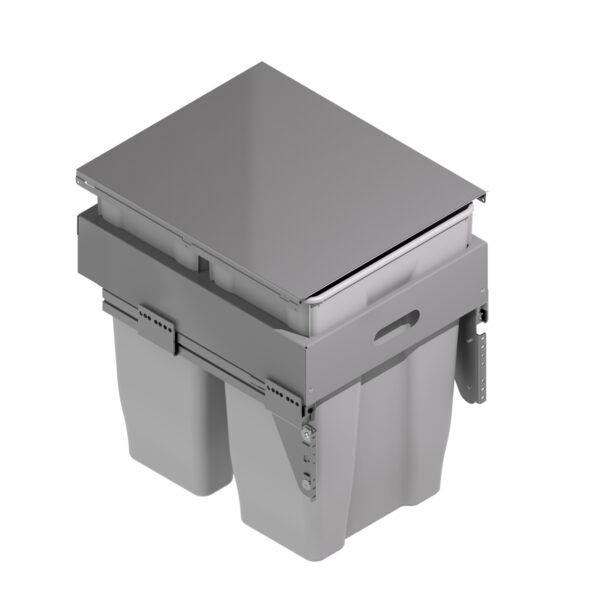 Cubo doble gris