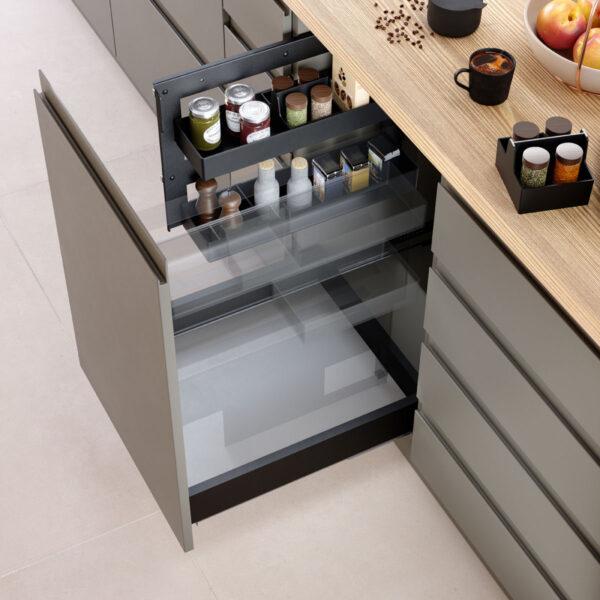 Bandeja extraíble para cajón o mueble de cocina, para ordenar los alimentos en una cocina funcional