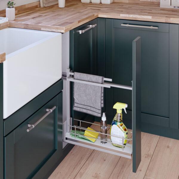 Accesorio para almacenar productos de limpieza