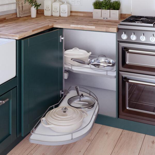 Bandejas para armario rinconero de cocina