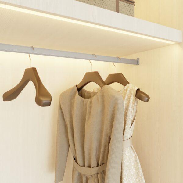 Barra de armario ovalada para vestidor Casaenorden