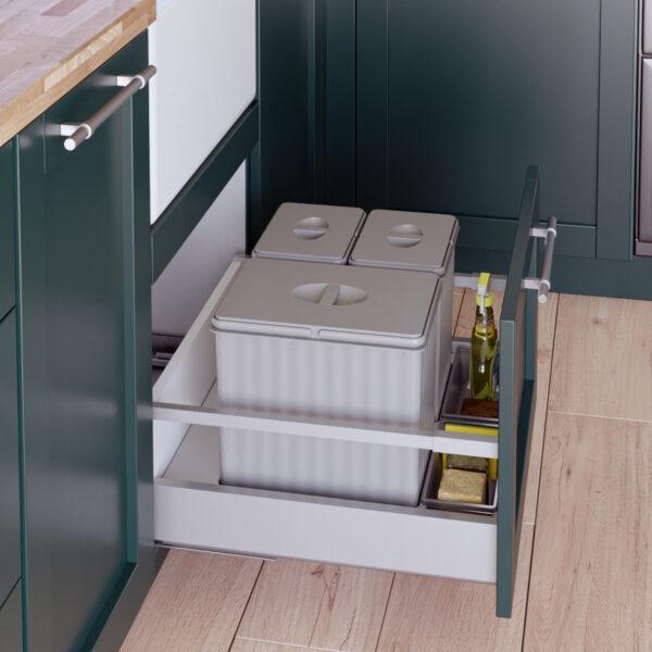 Cubo de reciclaje para cajón