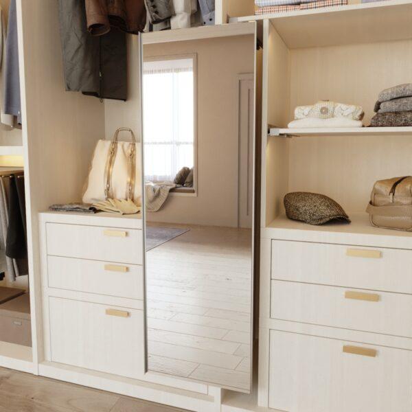 Espejo extraíble en gris para interior de armario Casaenorden