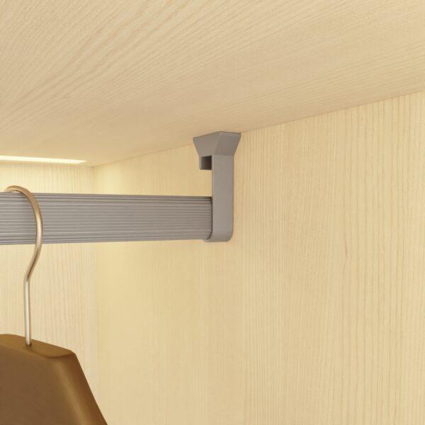Soportes para sujetar barra de colgar en armario Casaenorden