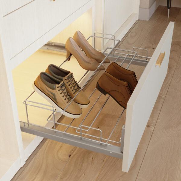 Zapatero extraíble y extensible para interior de armario Casaenorden